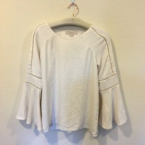 LOFT Tops - LOFT white cutout bell sleeve blouse